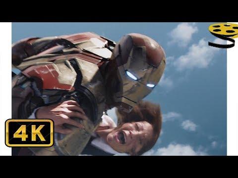 Железный Человек спасает Людей, выпавших из Самолета(Борт №1) | Железный человек 3 | 4K ULTRA HD
