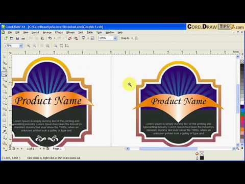 Creating labels using the Interactive Contour tool in CorelDraw