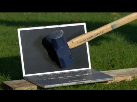 Sledgehammer vs Mac in Slow Motion - The Slow Mo Guys