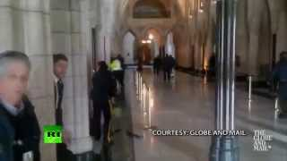 "Parliament Shooting Video-Ottawa Shelter In PLace-Non-Whites Under jeweled Illusion They ""Control"" C"