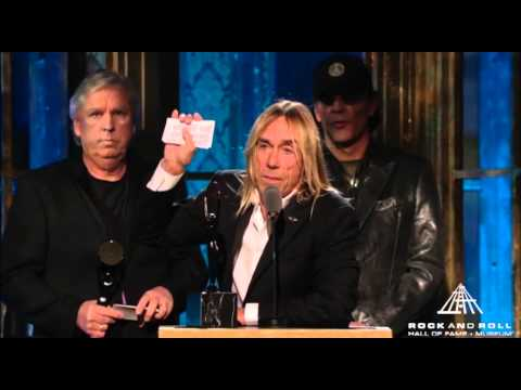 Billie Joe Armstrong of Green Day Inducts the Stooges into the Rock and Roll Hall of Fame