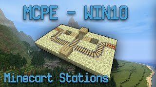 [MCPE/Win10] Minecart Station Designs! 2-way + 1-way / 1-wide