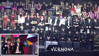 Mama 2018 Seventeen Twice Wanna One Izone Got7 Reaction To 방탄소년단 Bts 34 Idol 34 In Hong Kong