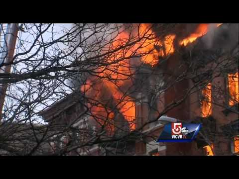 RAW Video: Explosion, fire ravages NYC apartment building