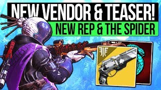 Destiny 2 News | NEW TOWER VENDOR & EXOTIC TEASER! The Spider NPC, Gambit Bounties, Exotics & More