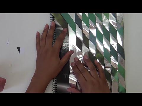 71. DIY FORRO LIBRETAS (RECICLAJE DE PAPEL Y BOLSAS DE PAPITAS) ✄