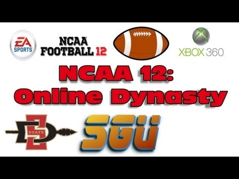 NCAA 12 Online Dynasty (SGU): Week 1 ft. San Diego State Aztecs