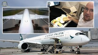 INSIDE THE BRAND NEW Airbus A350-1000 Business Class of Cathay Pacific!!! [AirClipsTraveller.com]
