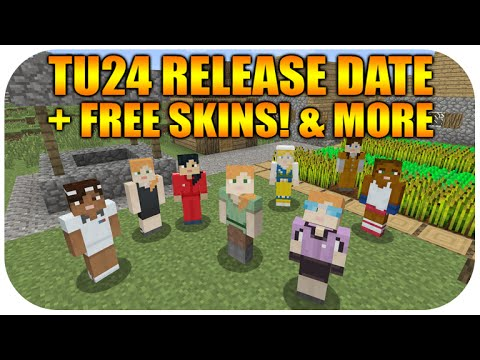 ★Minecraft Xbox 360 + PS3 title Update 24 Release Date Free Skins + Achievements Music★