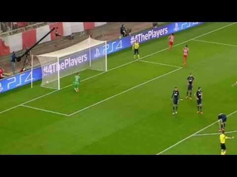 (HD) Olympiakos Piraeus 1-0 Manchester United (First Goal)