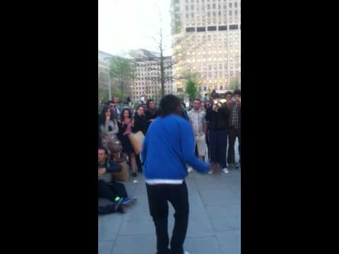 LES TWINS (LAURENT) VS SAM AT LONDON EYE SOUTHBANK