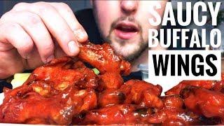 ASMR EATING BUFFALO WINGS - SMACKING/WHISPERING/ INTENSE SOUNDS