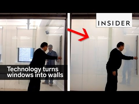 This technology turns windows into walls