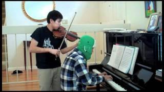 Howl's Moving Castle Main Theme (Violin, Piano cover) ft. Zorsy