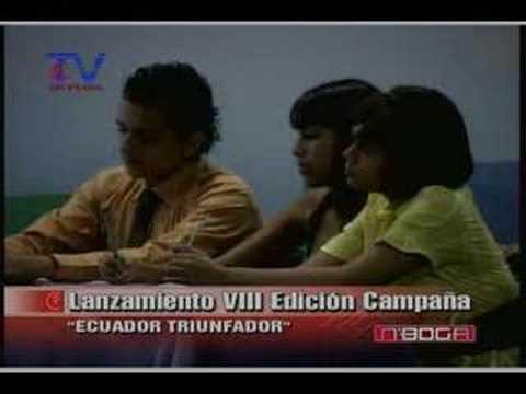 Lanzamiento VIII Edición Campaña Ecuador Triunfador