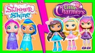 SHIMMER & SHINE vs LITTLE CHARMERS Surprise Magic Game Funny Kids Video