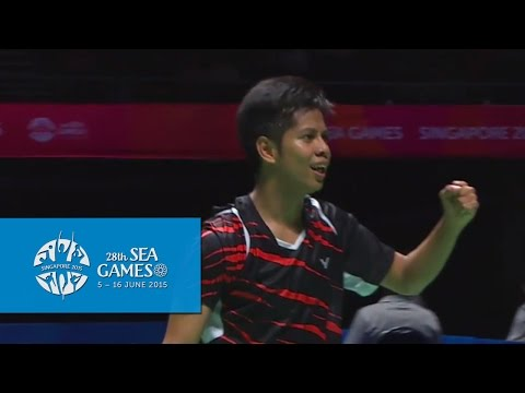 Badminton Mas vs Sin (Day 10) | 28th SEA Games Singapore 2015