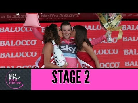 Giro d'Italia 2013 tappa/stage 2 Official Highlights