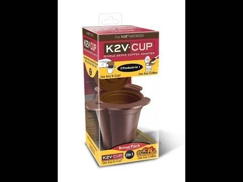 K2V Cup K-Cup adapter and reusable filter for Keurig Vue : how to use
