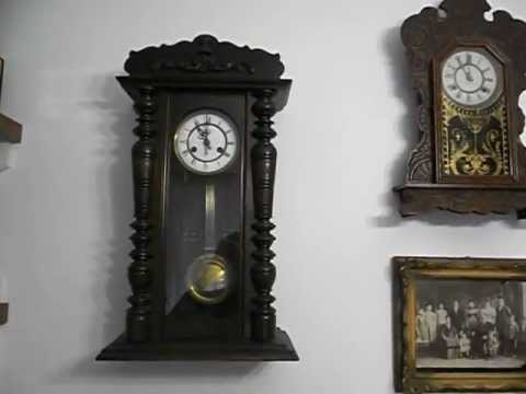 Antiguos relojes a p ndulo de pared youtube - Reloj decorativo de pared ...