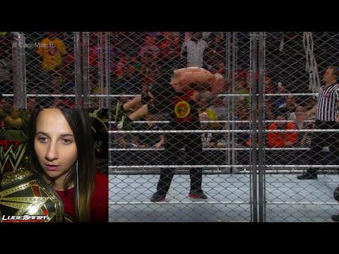 WWE Raw John Cena vs Seth Rollins Steel Cage BROCK LESNAR F5s Cena