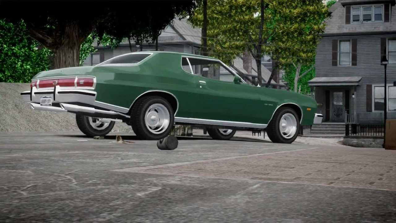 Ford Gran Torino Clint Eastwood >> GTA IV: Ford Gran Torino 1975 Promo Presentation - YouTube