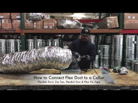 How-To Connect Flex Duct to a Collar - The Duct Shop