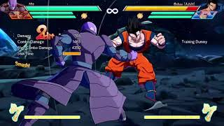 DBFZ Hit No assist Midscreen combos