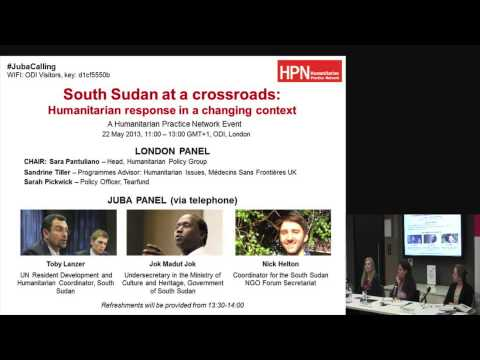 Dr Jok Madut Jok - South Sudan at a crossroads: humanitarian response in a changing context