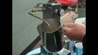 Steam punk ROCKET STOVE CAPPUCCINO MACHINE.