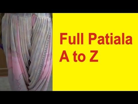 How To Make Full Patiala Salwar Cutting And Stitching | Drafting And Design Part 1 Of 2