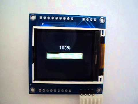 ARDUINO I2C Graphic LCD with keypad port DEMO