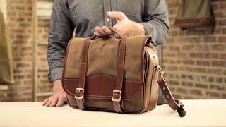 The Messenger Bag   Waxed Canvas & Leather Messenger Bag