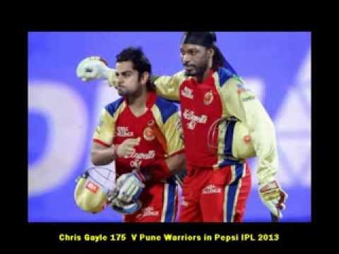 Chris Gayle 175 Runs Vs Pune Warriors India  IPL 2013 Fastest Century