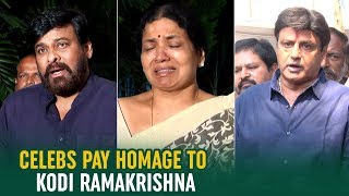 Tollywood Celebs Pay Homage To Kodi Ramakrishna | Chiranjeevi | Balakrishna | Telugu FilmNagar