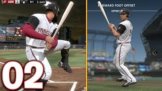 Creating The Weirdest Batting Stance Ever! MLB The Show 18 | Road To The Show Gameplay #2
