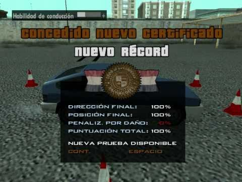 GTA: San Andreas-Mission: Back to school (ALL GOLD)