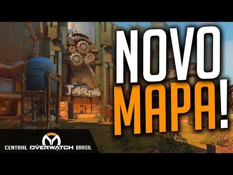 OVERWATCH | TESTANDO O NOVO MAPA DE JUNKERTOWN COM A CENTRAL - Central Overwatch Brasil
