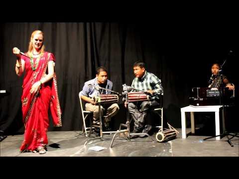 Anna Sttir American Singing Nepali Folk Song in LA, USA August 25, 2012