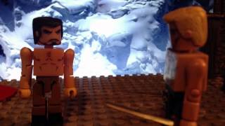Arrow Oliver Queen vs Ras Al Ghul 3x09 the climb fight scene minimates lego stopmotion video