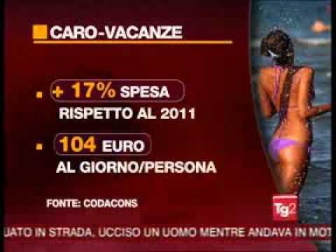 TG2 – Caro prezzi e crisi economica: Sempre meno vacanze lunghe per gli italiani