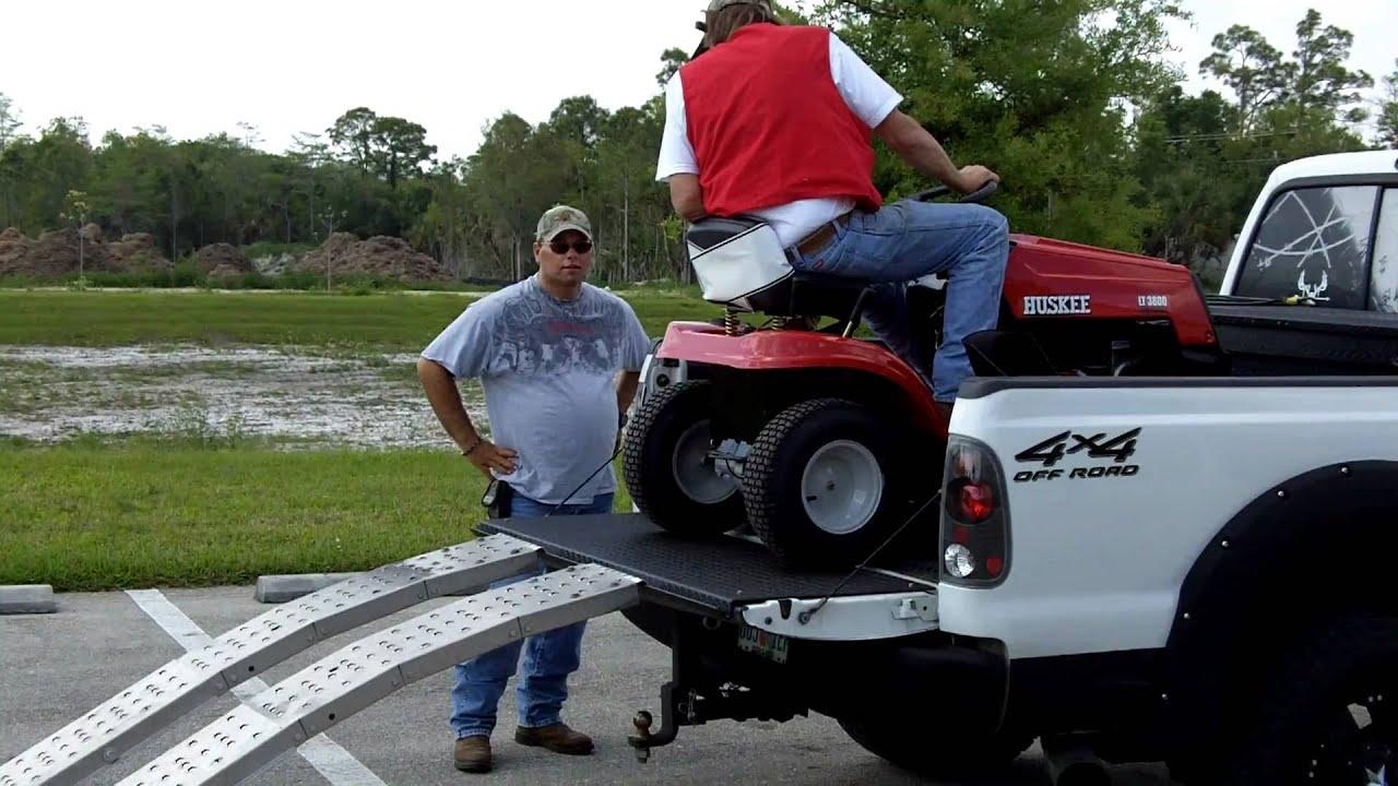 Tailgator Ramp System Lawn Mower Use Youtube