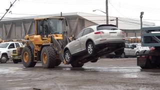 How to load flooded cars onto car carrier