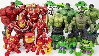 HULKBUSTER & IRON MAN vs HULK~ GO GO GO! Marvel HULK SMASH Collcections Toy Battle #Toysplaytime