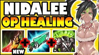 REWORKED DEATHS DANCE ON NIDALEE TOP! THE HEALING IS BROKEN! - League of Legends