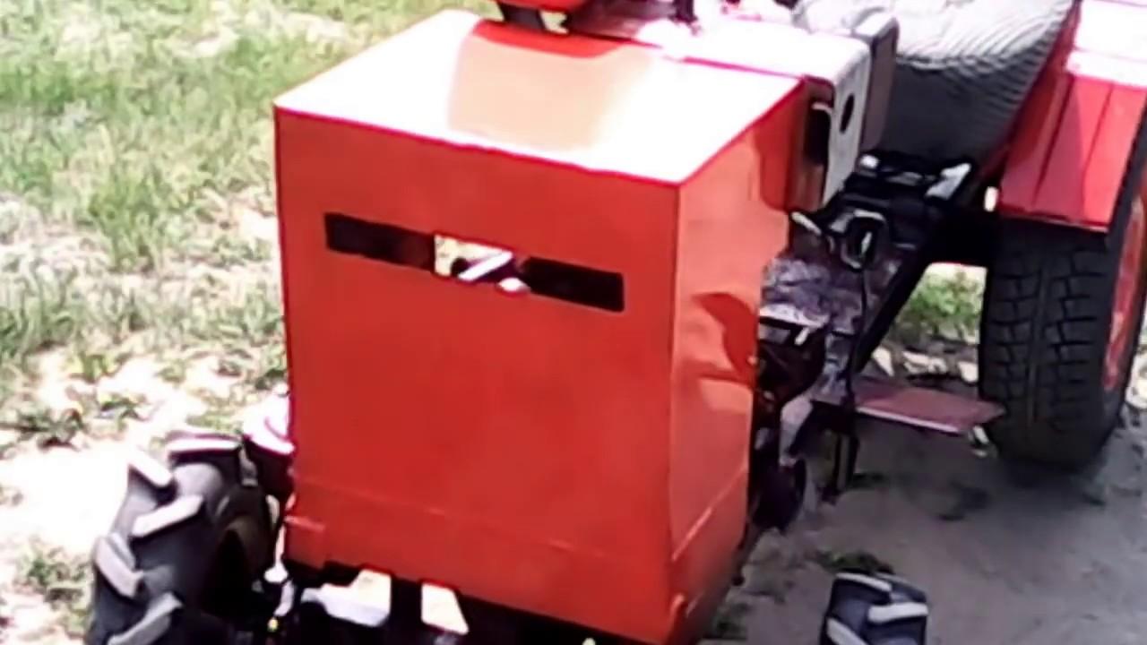 Минитрактор из мотоблока целина своими руками видео