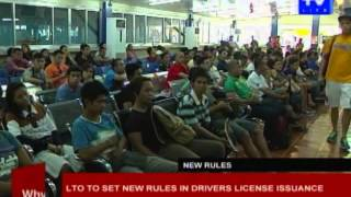 LTO to set new rules in drivers license issuance