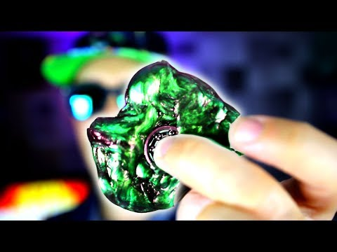 HOW TO MAKE SLIME FIDGET SPINNERS THAT WORK! + DIY LAVA Putty Figet Spinner