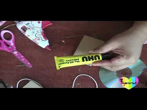 DIY: SERVILLETERO HECHO CON CDS RECICLADOS/DIY: NAPKIN HOLDER MADE WITH RECYCLED CDS