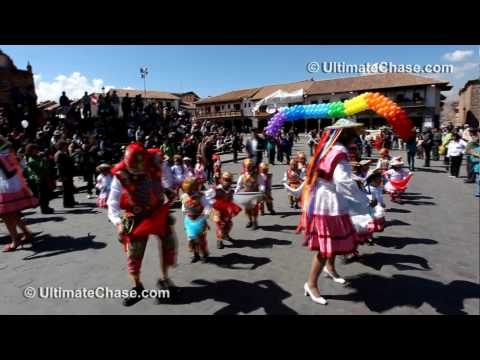 Pronoei Parade in Cusco / Cuzco Peru - Travel Video